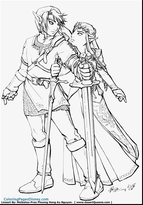 The Legend Of Zelda Coloring Pages At Getcoloringscom