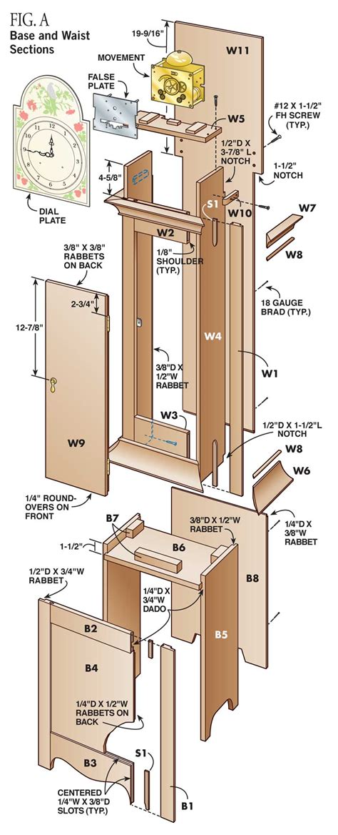 grandfather clock diy standing clock plans