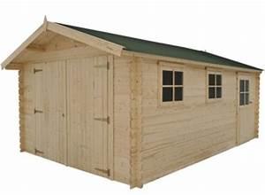 Garage Bois 20m2 : garage en bois 34 mm moins 20 m2 kit en madrier promo ~ Melissatoandfro.com Idées de Décoration