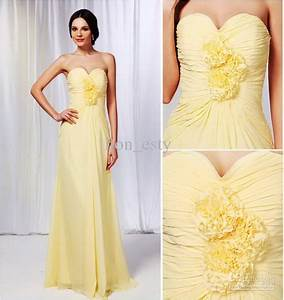 light yellow bridesmaid dresses With yellow wedding dresses bridesmaids
