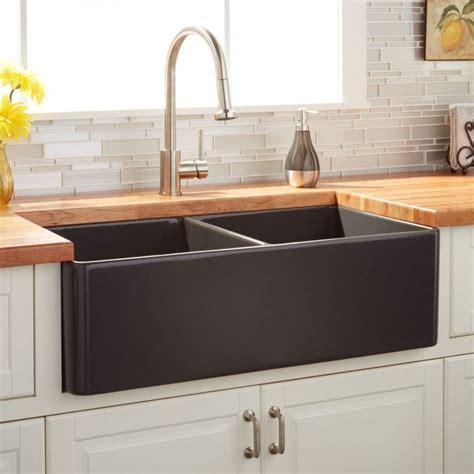 grey kitchen sinks 33 quot reinhard bowl fireclay farmhouse sink 1504