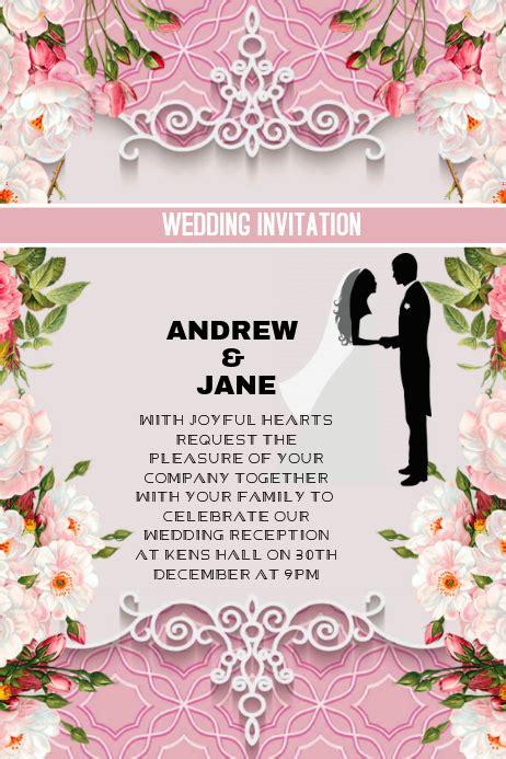 Copy of Wedding invitation anniversary card PosterMyWall