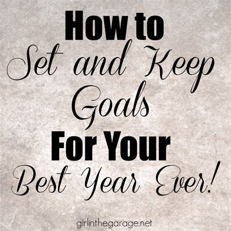 5 tips for how to set and keep goals for your best year in the garage 174