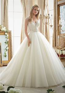 intricately beaded embroidery on tulle ball gown style With wedding dress me