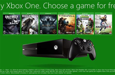 buy an xbox one next week get one for free