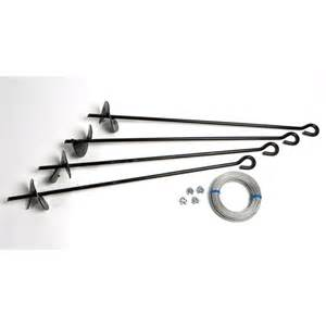 shop arrow black galvanized steel storage shed anchor kit at lowes