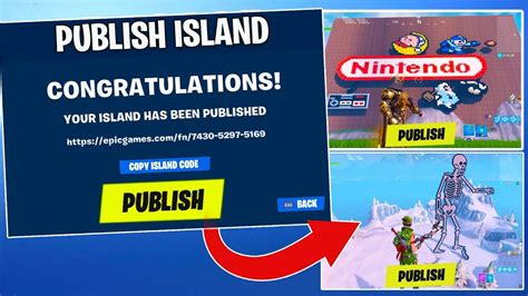 upload publish island codes worlds  fortnite