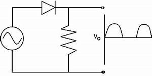half wave rectifier With shows the voltages and current in a simple half wave rectifier circuit