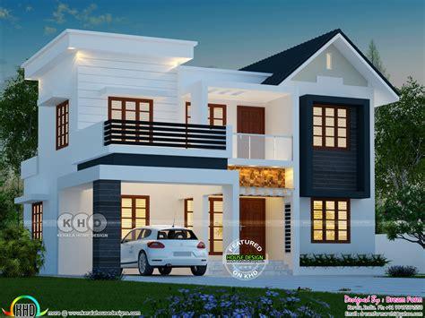 bhk  square feet modern house plan kerala home