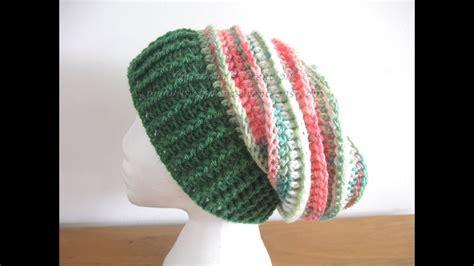 riptide slouch hat left handed crochet tutorial youtube