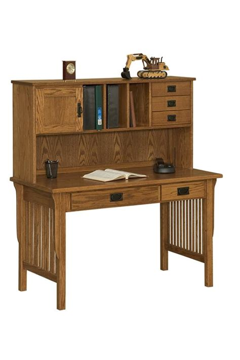arts and crafts desk arts and crafts writing desk with hutch from dutchcrafters