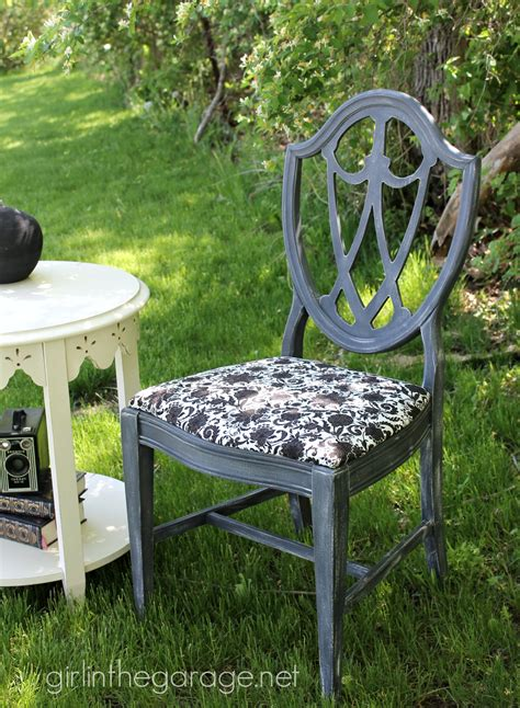 brushed flower chair themed furniture makeover day