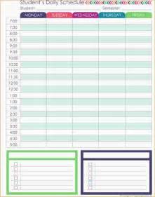 4 daily schedule planner ganttchart template
