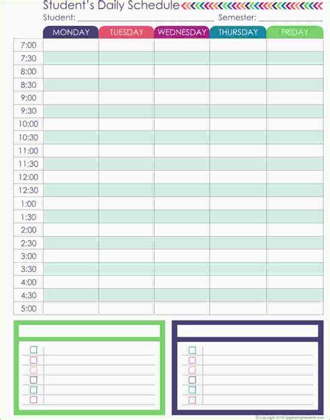 daily schedule planner task list templates