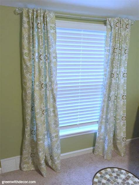 green with decor how to hem curtains