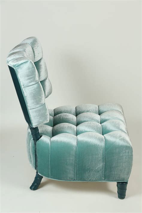 gorgeous leather slipper chair offering stunning vibes and