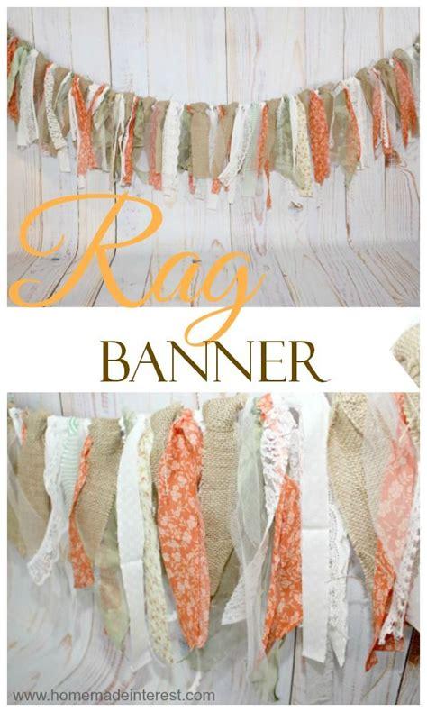 diy rustic rag banner rag banner banners and rustic