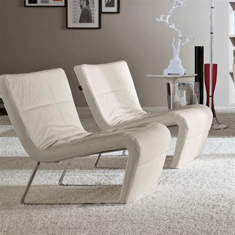 Designer Armchair by White Leather Designer Armchair