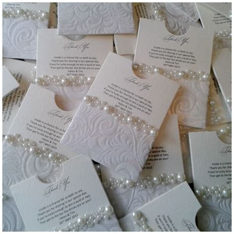 lottery ticket favors crystal couture luxury wedding