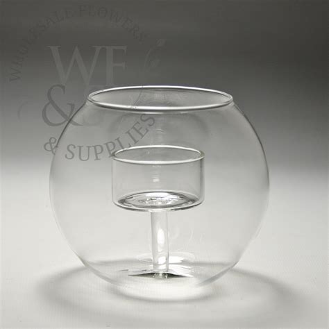 votive candle holder medium glass sphere votive candle holder