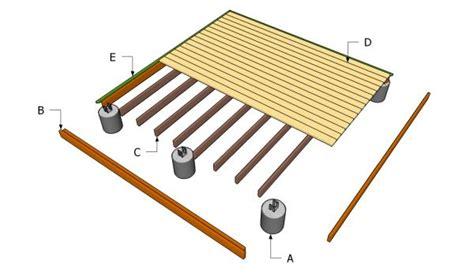 16×16 Floating Deck Plans