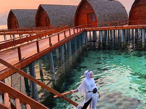 plesiran pulau tegal mas  resort apung hingga bawah