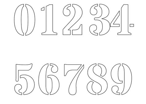 Free Numbers Templates by Free Printable Number Stencils For Painting