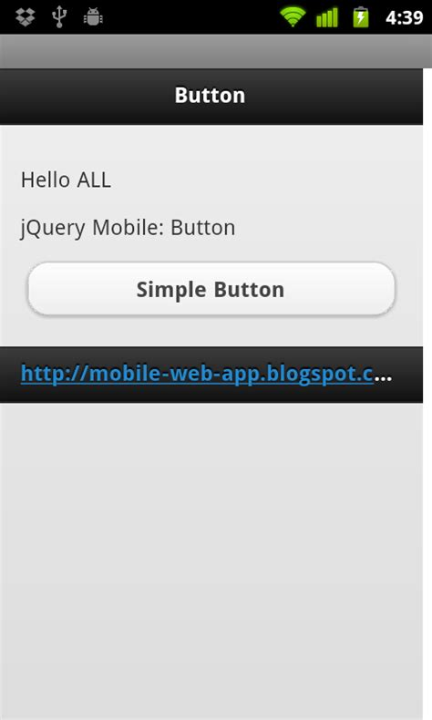 Jquery Resume Click Event by Mobile Web App Jquery Mobile Simple Button And Onclick Event