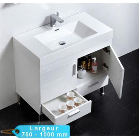 salle de bain avec vasque a poser meuble de salle de bain simple vasque 224 poser klassyk cubique avec miroir masalledebaindesign fr