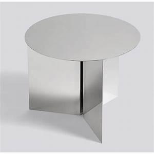 Table Basse Miroir : table basse hay slit ronde miroir ~ Melissatoandfro.com Idées de Décoration