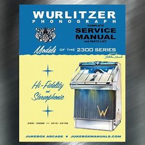 Wurlitzer 2300 Series Service Manual  Parts Lists