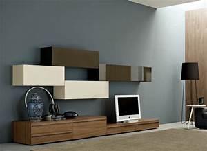 le meuble suspendu de salon decore et modernise le salon With meuble de rangement salon