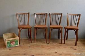 Table Et Chaise Bistrot : beautiful chaises bistrot baumann rouges annes vintage ~ Teatrodelosmanantiales.com Idées de Décoration