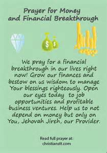 Breakthrough Prayers for Money