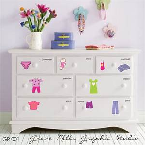 How Cute Is This For Little Kids  Dresser Clothing Decal