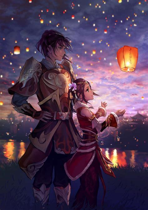 lantern sky lanterns lights original characters