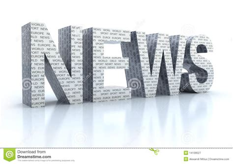 The Word News Over White Stock Illustration. Illustration