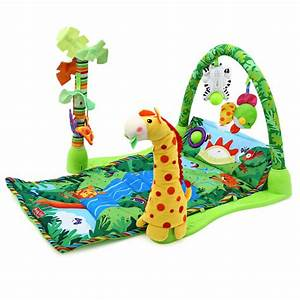 Baby cartoon music play gym mat infant Developing ...