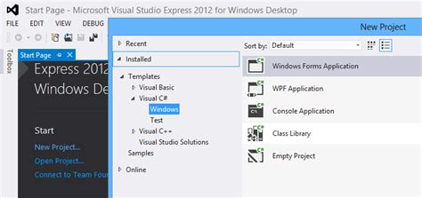 express template windows 8 no metro project templates in visual studio express 2012 for desktop stack overflow
