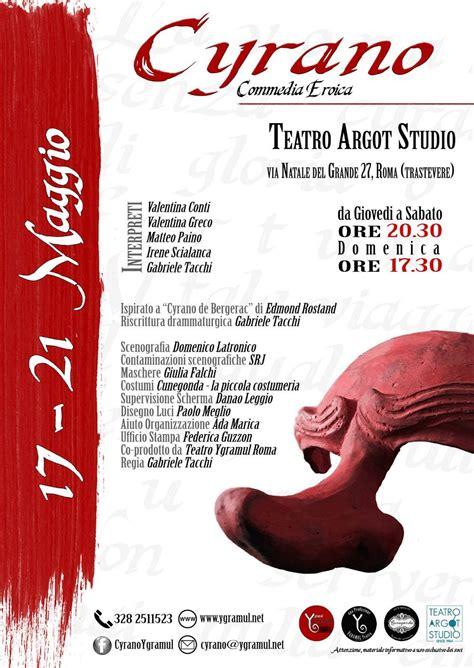 Testo Cyrano - cyrano commedia eroica teatro argot studio spettacoli a