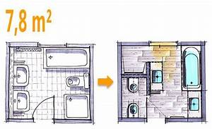 Bad Grundrisse Beispiele : badplanung beispiel 7 8 qm modernes komplettbad mit funktionszonen ideen hausbau badezimmer ~ Orissabook.com Haus und Dekorationen