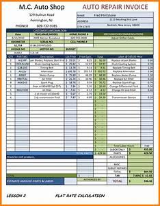 8 auto repair receipt xavierax With mechanic shop invoice templates