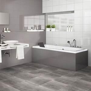 awesome salle de bain avec sol gris fonce contemporary With salle de bain sol gris