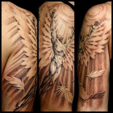 angel flying   sun tattoo tattoo ideas