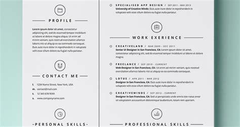 simple resume template vol resumes templates pixeden