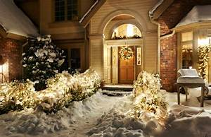 deco noel guirlande lumineuse exterieur et sapins With carrelage adhesif salle de bain avec led christmas tree