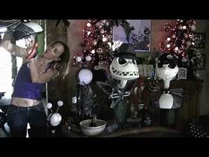 nightmare before christmas decorated halloween house very