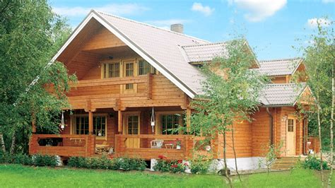 Wooden Houses : Beautiful A-frame Wooden House With Sauna