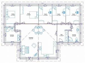 plan de maison 5 ch With plan de maison a etage 5 chambres