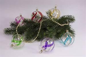 Weihnachtskugeln Aus Lauscha : 6 bunte weihnachtskugeln aus glas 6cm transparent ~ Orissabook.com Haus und Dekorationen